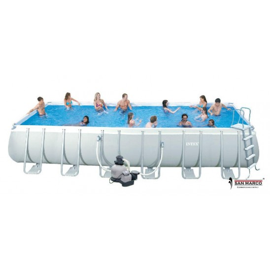 Piscina fuori terra intex ultra frame 488x122 san marco for Prezzi piscine intex