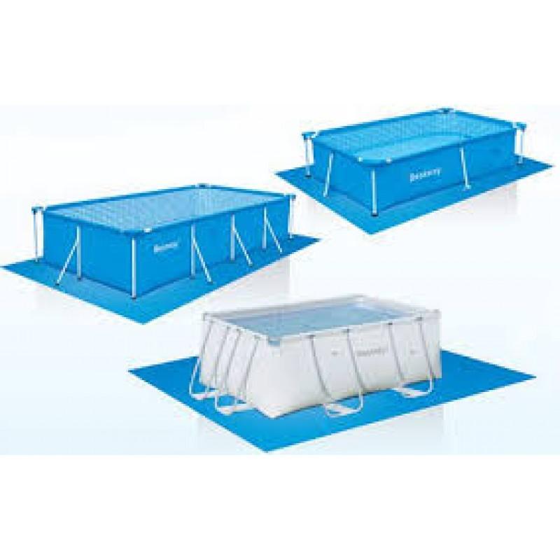 Telo sottopiscina per piscine rettangolari fino a 400 cm - Tappeto sottopiscina ...