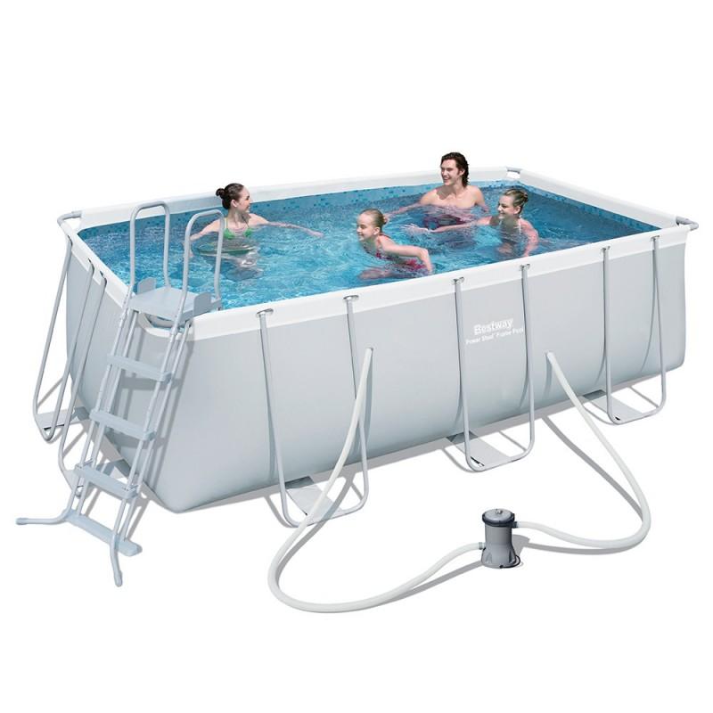 Piscina fuori terra bestway frame 412x201x122 cm san marco - Misure piscina bestway ...