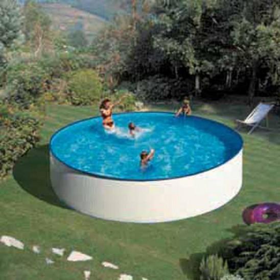 Liner piscina gre azzurro rotondo 350x120 cm san marco for Liner piscina gre