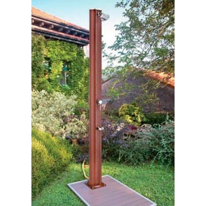 Base per doccia da giardino effetto legno 90x60 san marco - Doccia da esterno solare ...
