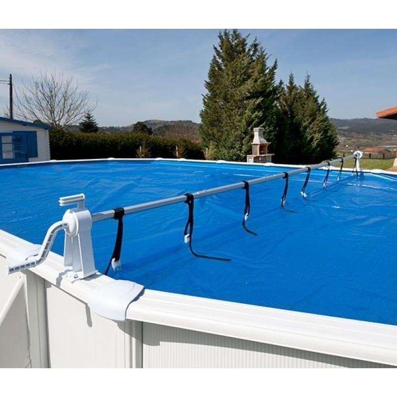 Rullo avvolgi teli isotermici per piscine fuori terra for Teli per piscine interrate