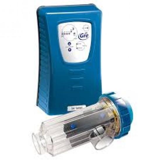 Sterilizzatore a sale Gre per piscine fino a 60 m3 con controllo di pH