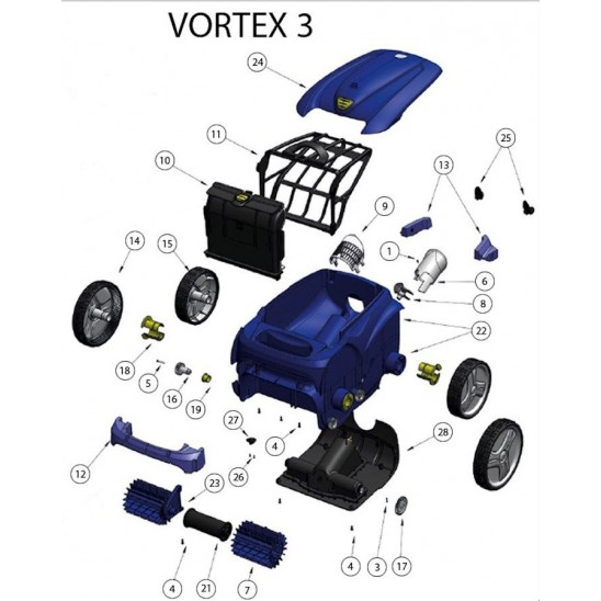 pignone 17 denti per robot zodiac vortex 3 san marco. Black Bedroom Furniture Sets. Home Design Ideas