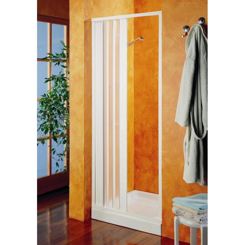 Porta doccia a soffietto in pvc bianco riducibile san marco - Porta doccia soffietto ...