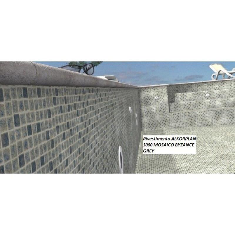 Liner mosaico byzance grey per piscine interrate alkorplan 3000 san marco - Liner per piscine ...