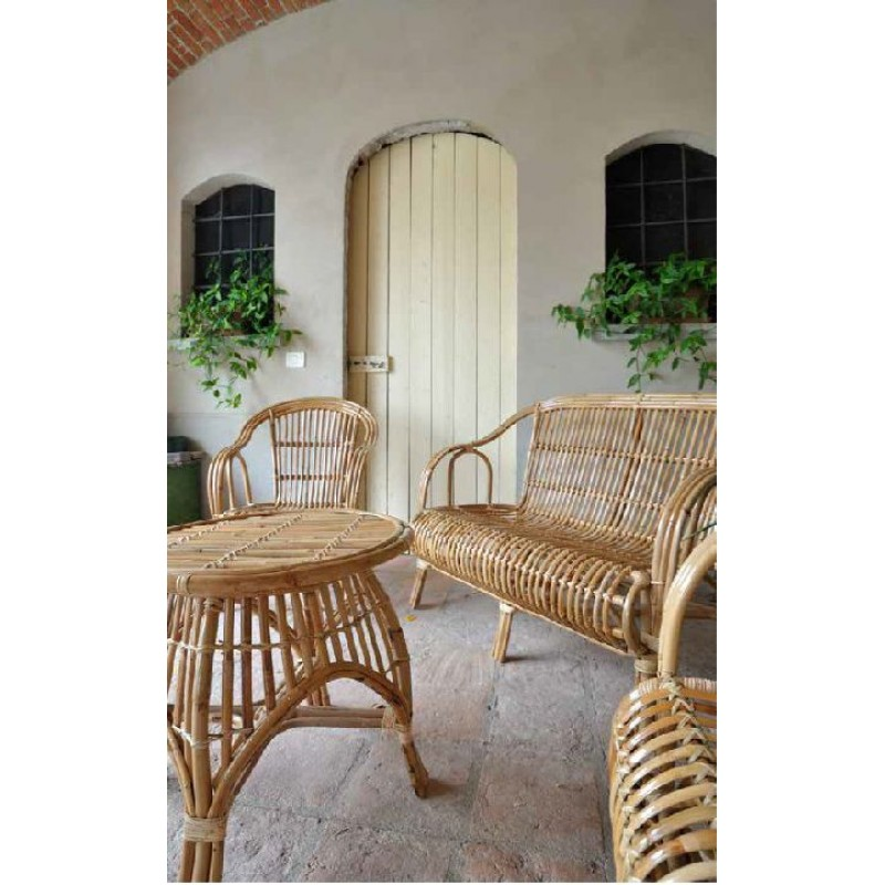 Salotto da giardino cebu giunco naturale san marco for Salotto da terrazzo