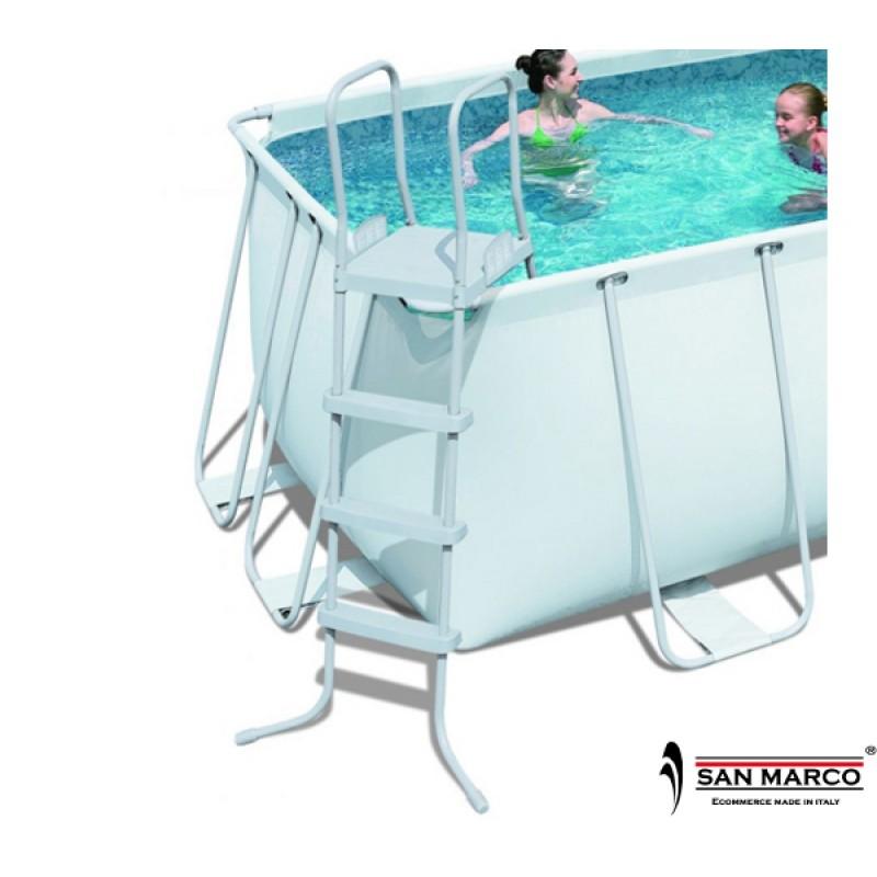 piscina fuori terra frame con filtro a sabbia fasatech
