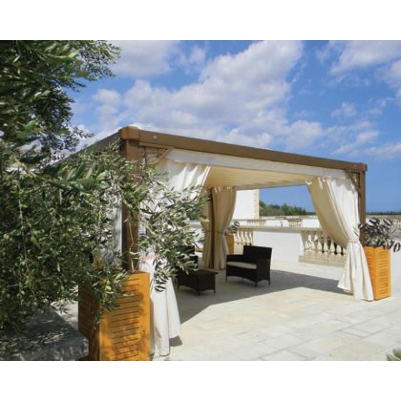 Gazebo in legno dehors beach system san marco for Arredo esterno in legno