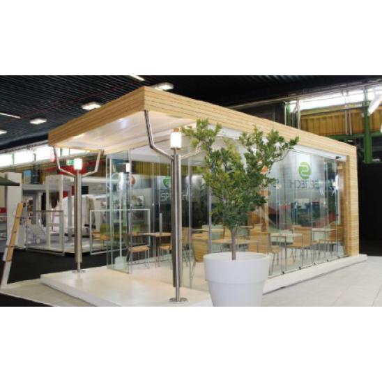 Gazebo giardino rettangolare 4x3 mt in alluminio san marco for Gazebo proiettato con camino
