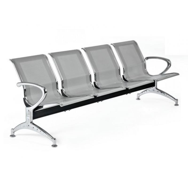 Sedie per sala di attesa in metallo a 4 posti san marco for Sedie studio legale