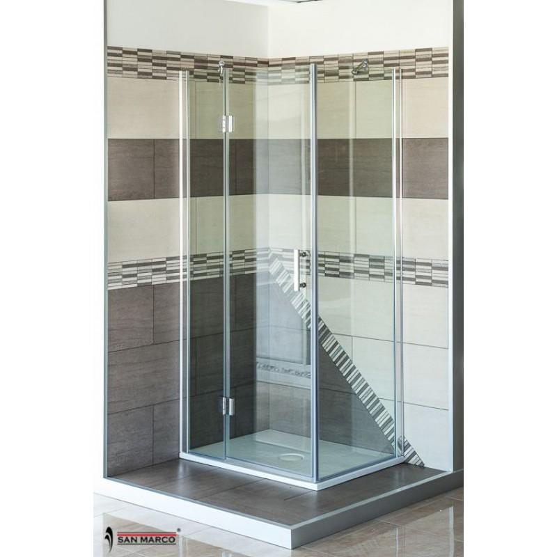 Box doccia san marco luxor 8 mm porta battente san marco - Box doccia un anta ...