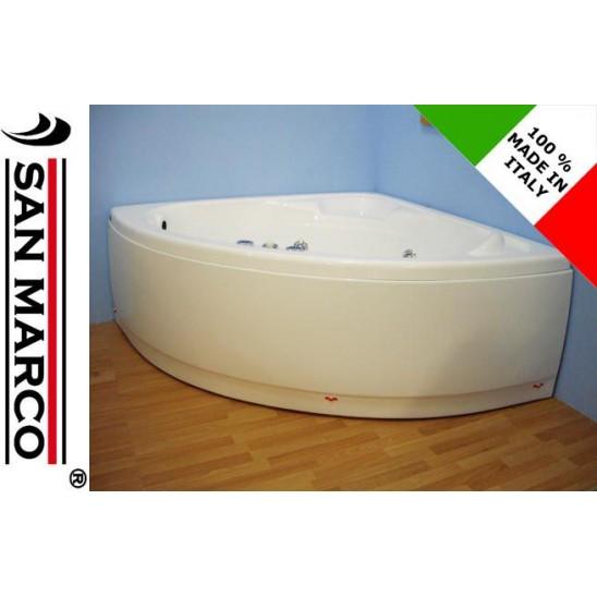 Vasca da bagno angolare con idromassaggio 130x30 cm san marco for Vasca da bagno 150x70