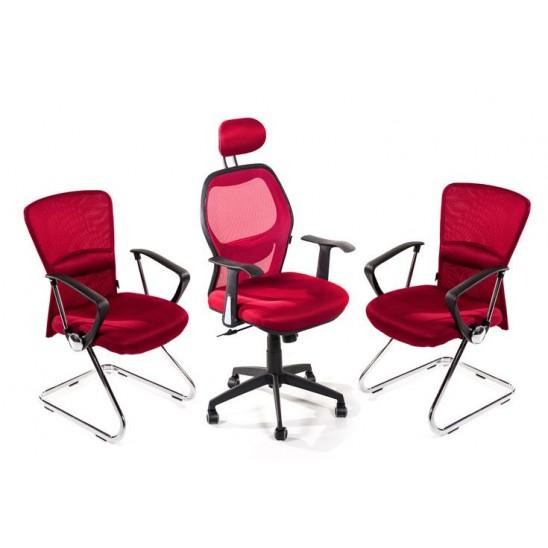 1 poltrona ufficio 2 sedie sala attesa san marco for Poltrone x ufficio