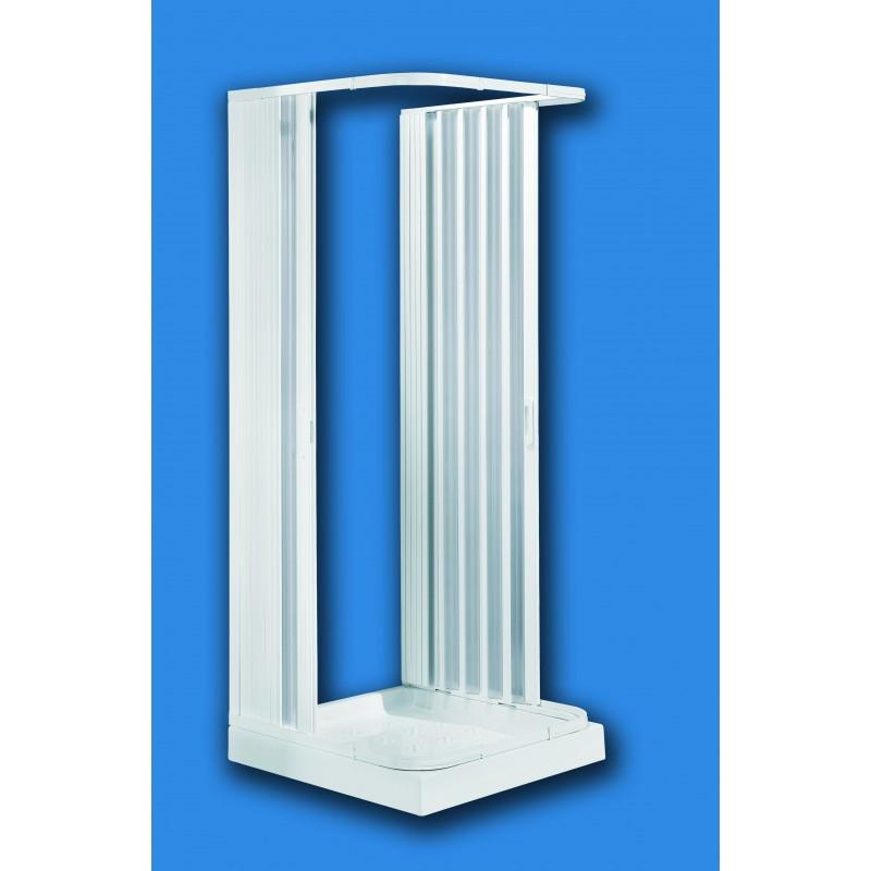 Box doccia con porta a soffietto in pvc san marco - Cabine doccia a soffietto ...