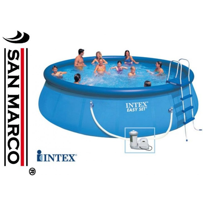 Piscina fuori terra intex easy set 549x122 cm san marco for Piscina intex easy set