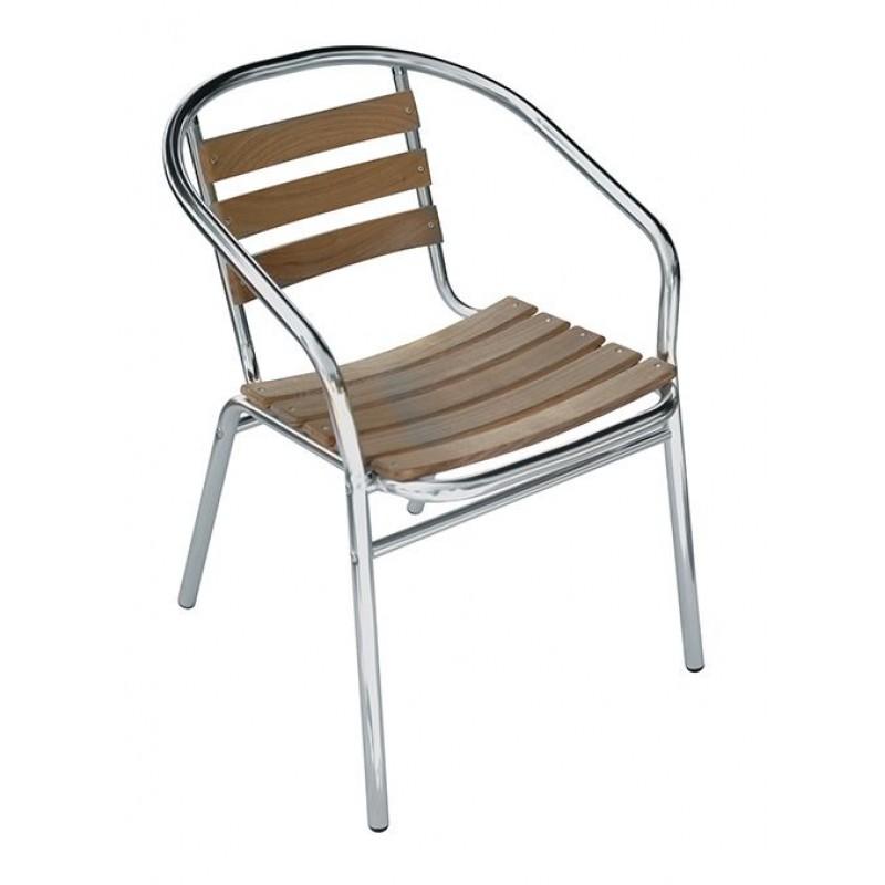 Sedie Bar Alluminio Prezzi.Sedia Bar Alluminio E Legno Contract