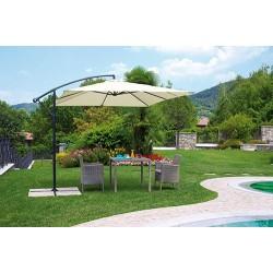 Ombrellone da giardino quadrato a braccio palo antracite 2,70x2,70 mt