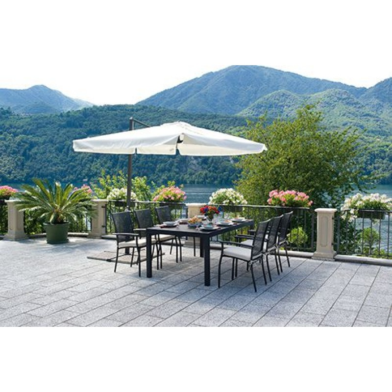 Ombrellone giardino decentrato rettangolare3x2mt san marco for Giardino rettangolare