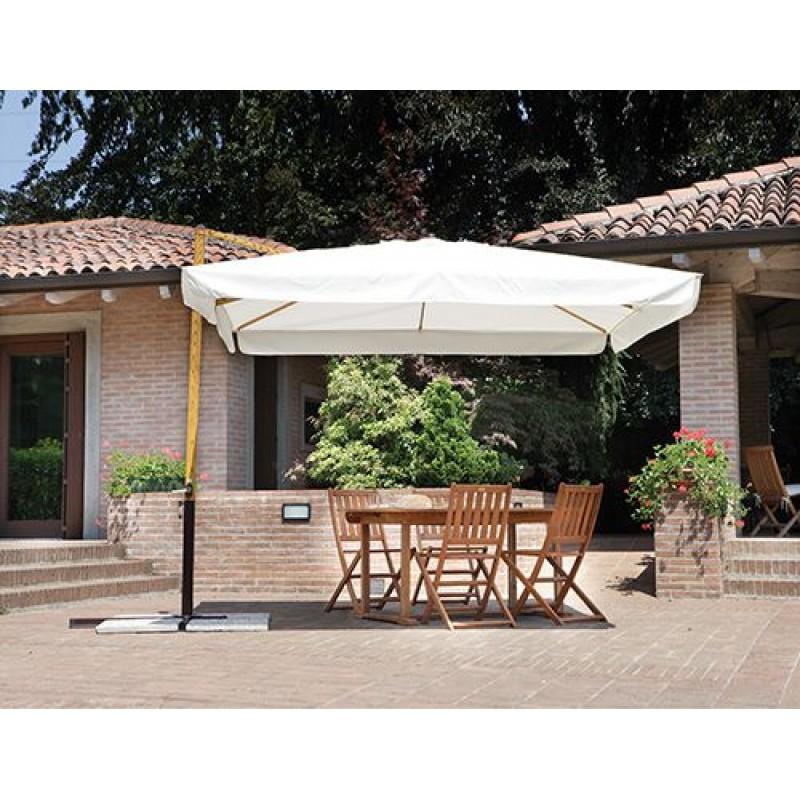 Ombrellone da giardino 3x3m a braccio color legno san marco - Riparazione ombrelloni da giardino ...