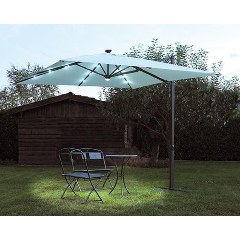 Pannello Solare Ombrellone Hook : Ombrellone da giardino decentrato mt con luci san marco