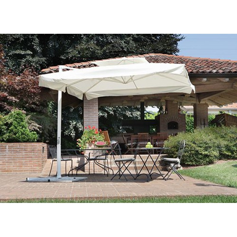 Ombrellone da giardino a braccio bianco contract san marco - Riparazione ombrelloni da giardino ...