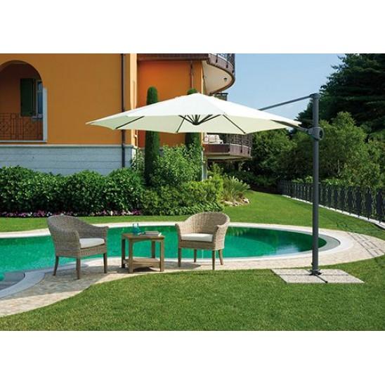 Ombrellone giardino 3 mt braccio in alluminio san marco for Piscina fuori terra 3x2