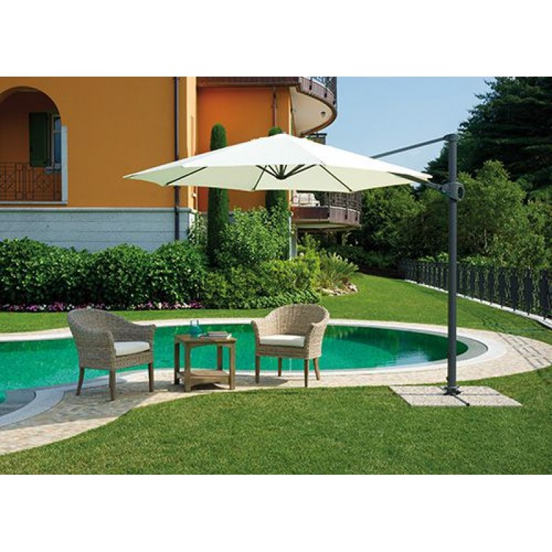 Ombrellone giardino tondo 3 mt braccio antracite san marco - Ombrelloni da giardino brico ...