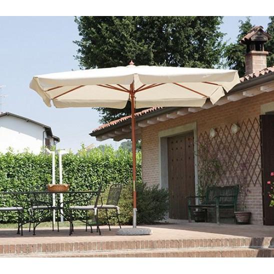Ombrellone da giardino quadrato 3x3 mt in legno san marco for Giardino rettangolare