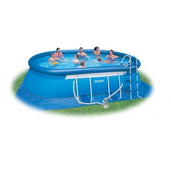 Piscina da esterno intex ovale 549x305x107 san marco for Piscine intex autoportee ovale