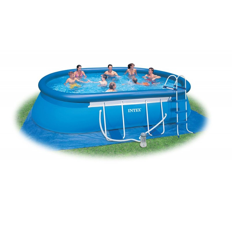 Piscina da esterno intex ovale 549x305x107 san marco for Accessori piscine intex