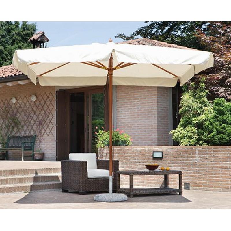 Ombrellone da giardino 3x4 mt in legno delux san marco - Ombrelloni da giardino brico ...