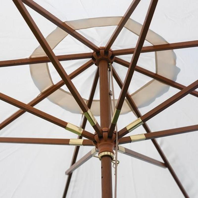 Ombrelloni Legno Da Giardino.Ombrellone Giardino 3 Mt In Legno Indonesiano San Marco