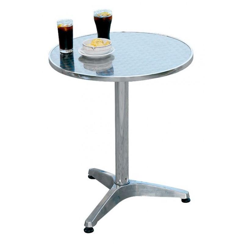 tavolo bar rotondo alluminio e acciaio san marco