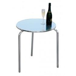 Tavolo bar alluminio e acciaio tre gambe