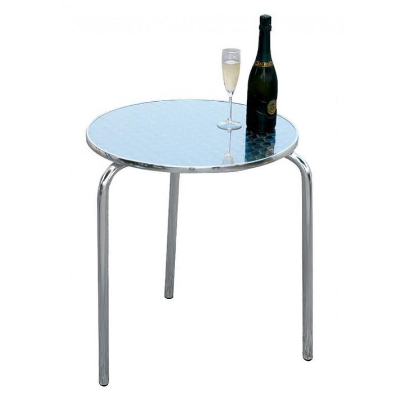 Tavolo bar alluminio e acciaio tre gambe san marco for Tavolo in alluminio