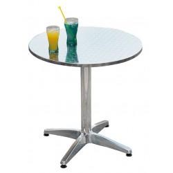 Tavolo bar alluminio e acciaio una gamba