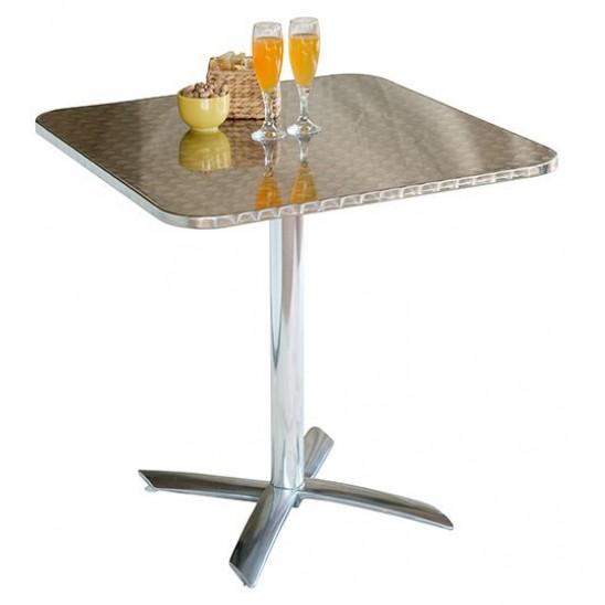 Tavolo bar rettangolare pieghevole in ferro san marco for Ferro tubolare quadrato prezzo