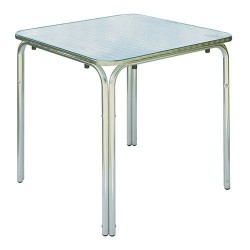 Tavolo bar quadrato alluminio e acciaio