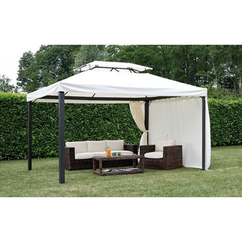 gazebo giardino rettangolare 4x3 mt in alluminio san marco. Black Bedroom Furniture Sets. Home Design Ideas