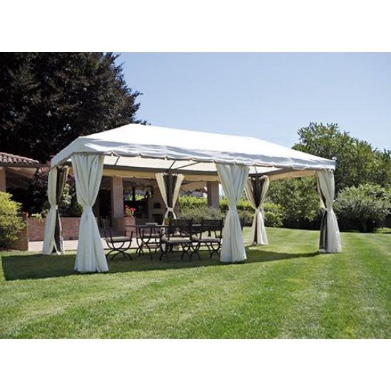 Gazebo da giardino rettangolare 6x3 mt alluminio san marco for Giardino rettangolare