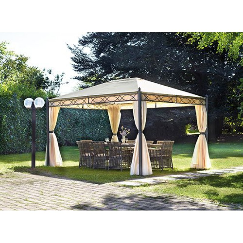 gazebo da giardino 4x3 mt in ferro lavorato san marco. Black Bedroom Furniture Sets. Home Design Ideas