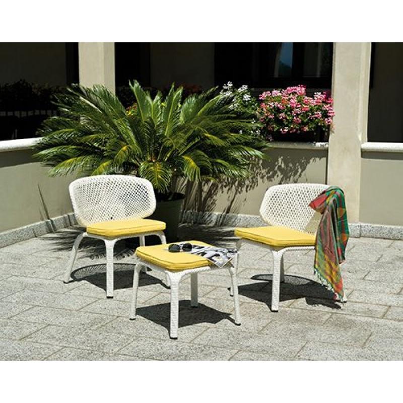 Set esterno balcone tavolino e poltrone san marco for Tavolino per balcone