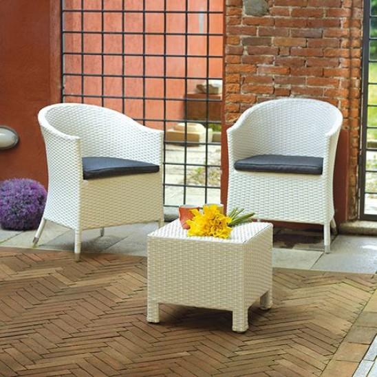 Set esterno balcone tavolino e poltrone san marco - Poltrone in vimini da esterno ...