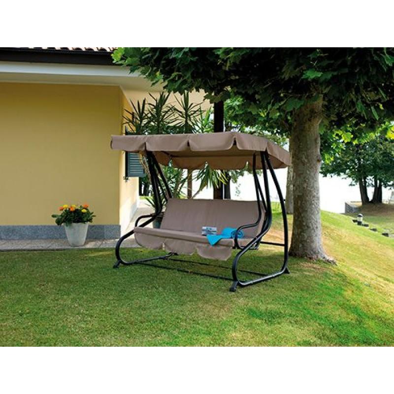 Dondolo da giardino 3 posti reclinabile antracite san marco - Dondolo da giardino usato ...