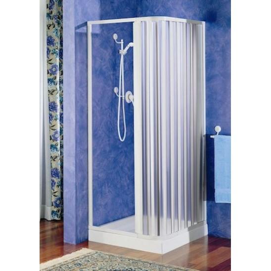 Porta doccia a soffietto in pvc bianco riducibile san marco - Porta a soffietto per doccia ...