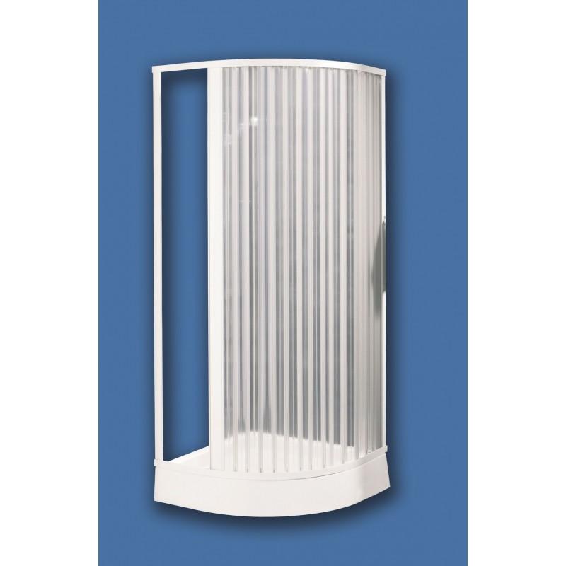 Box doccia angolare con porta a soffietto in pvc