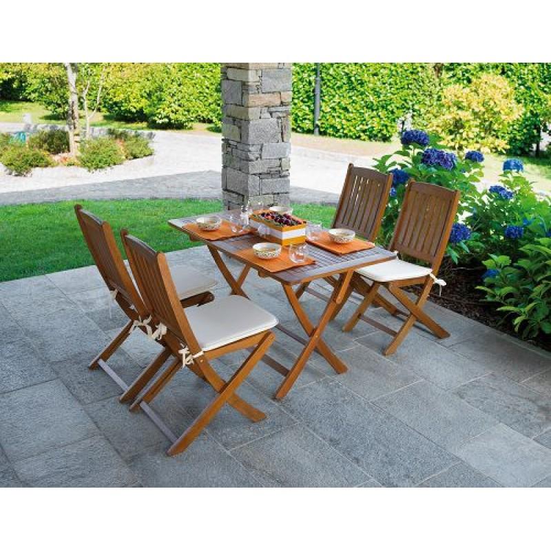 Tavolo da giardino in legno d 39 acacia cordova 120x70 cm - Tavolo in legno da giardino ...