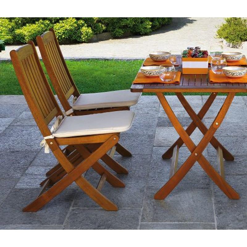Tavolo da giardino in legno d 39 acacia cordova 120x70 cm - Tavolo in legno pieghevole ...