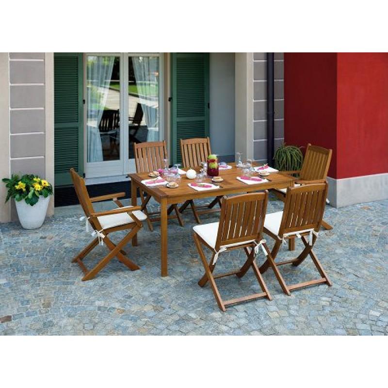 Tavoli Da Giardino In Acacia.Tavolo Da Giardino In Legno Granada 150 X 90 Cm San Marco